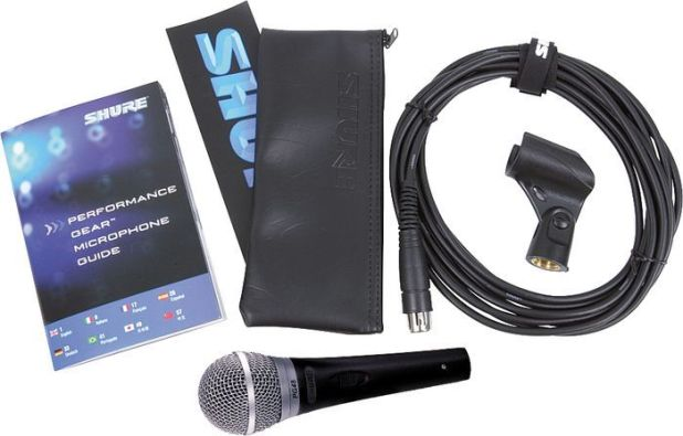 Shure PG48 microphone includes