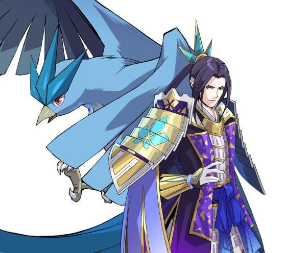 Pokemon Conquest Character Mitsuhide Articuno Flat