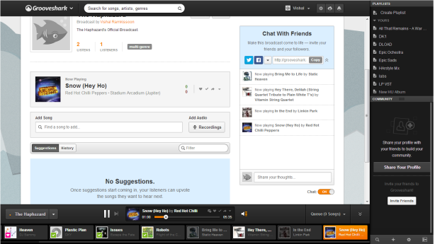 The Haphazard's GrooveShark